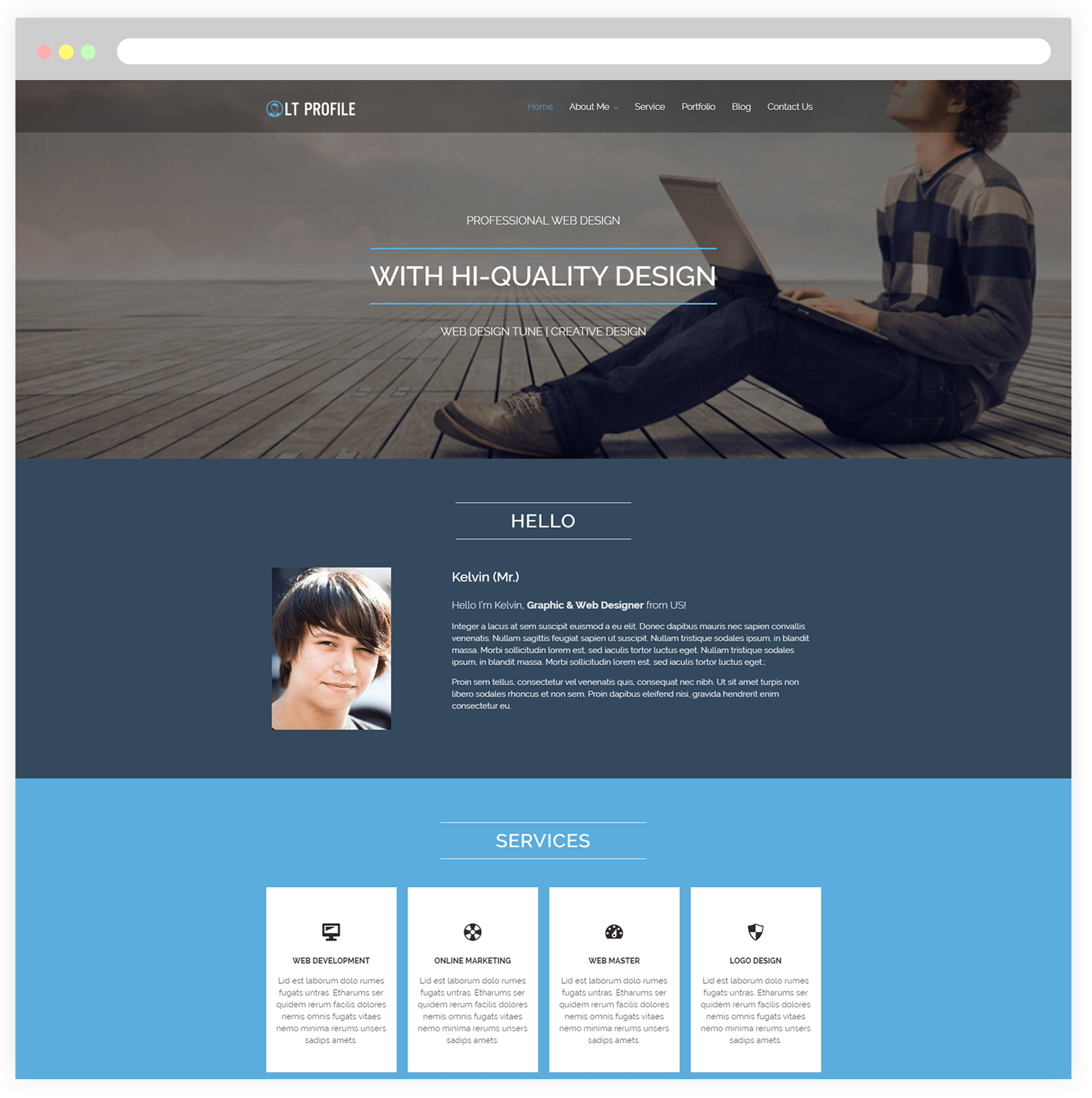 wordpress theme cv responsive