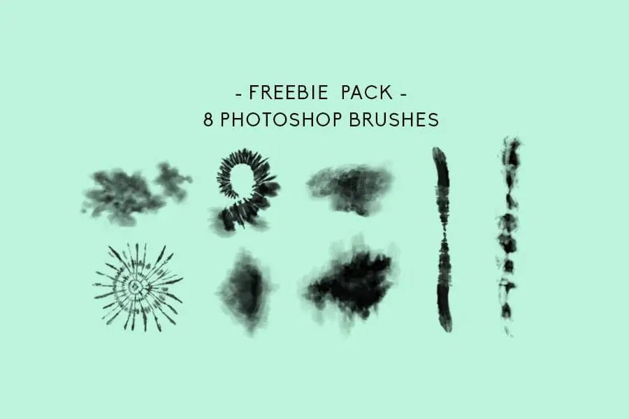 Set Of 8 Perfect Tiedye Photoshop Brushes Free Download - Joomla and