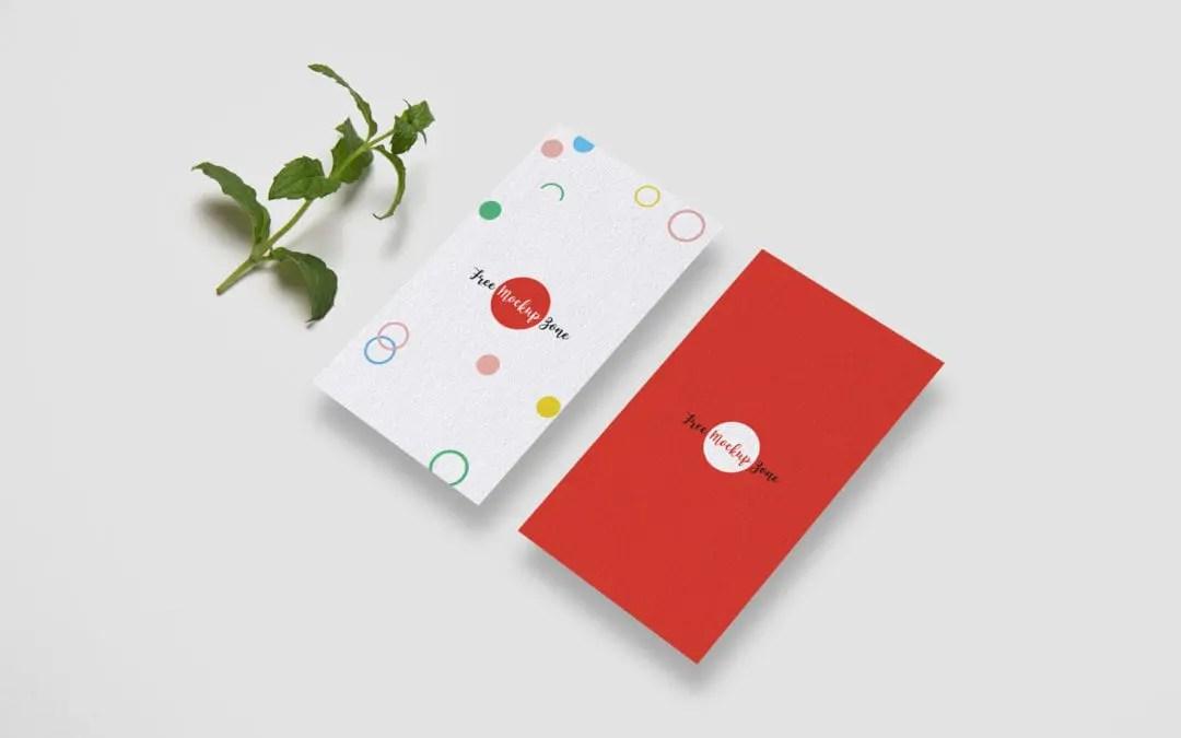 Free Vertical Business Card MockUp - Responsive Joomla and Wordpress - vertical business card