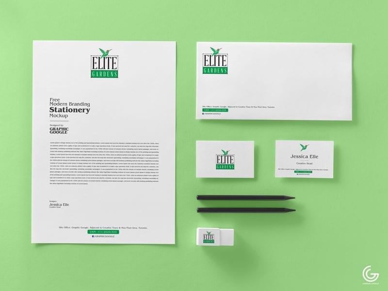 Free Branding Stationery MockUp PSD Template - Responsive Joomla and