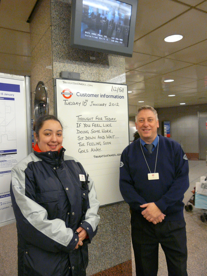 Angel station customer service assistants London Transport Museum Blog