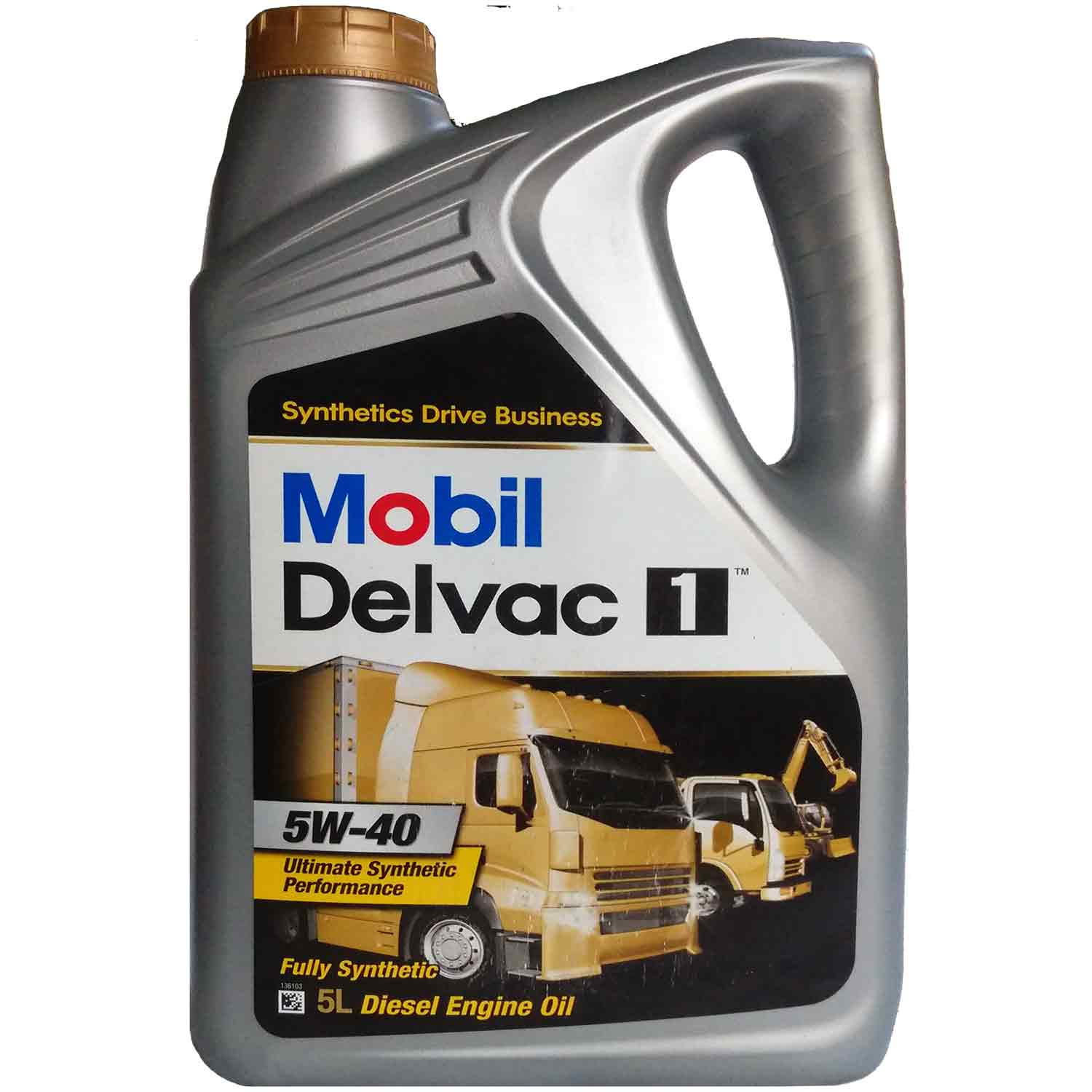 5 W 40 Mobil Delvac 1 5w 40 Fully Synthetic Diesel Engine Oil 5l Pack
