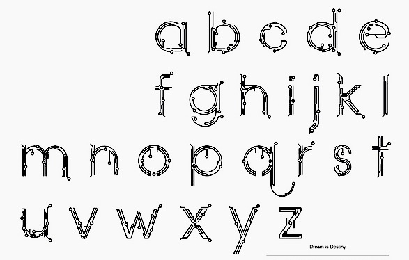 myfonts circuit board typefaces