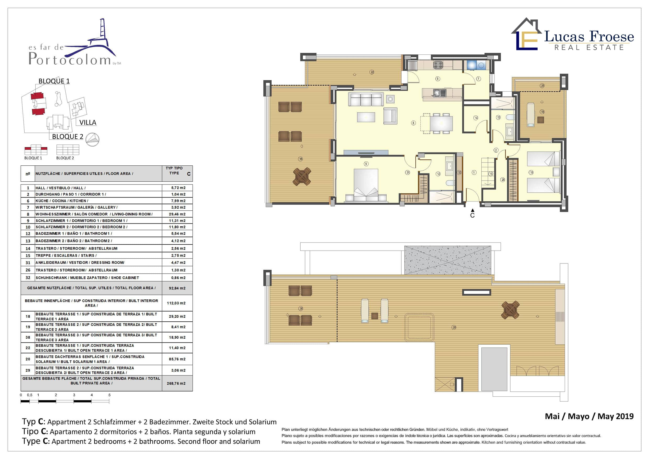 Badezimmer 6 M2 Apartments In Portocolom With Community Pool From 290 000