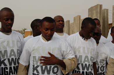 Peace Love Life Uganda T-shirts in Iraq, published in Lucire