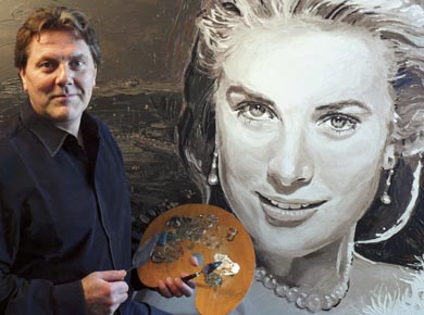 Peter Engels and Grace Kelly portrait