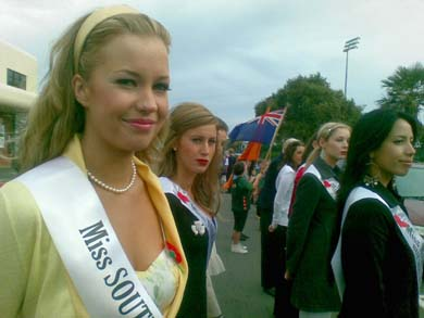 Katie Taylor at Miss Universe New Zealand 2009