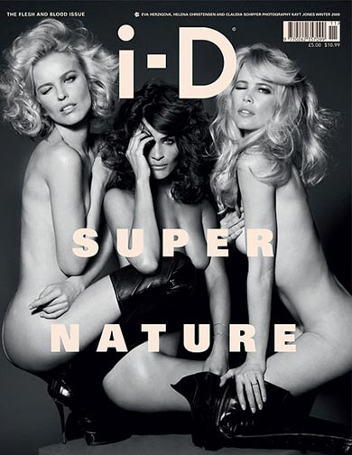 i-D cover with Eva, Helena and Claudia