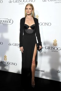 Rosie Huntington-Whiteley, a guest of de Grisogono's Fawaz Gruosi at the Fatale dinner at Hôtel du Cap-Eden-Roc, Antibes, May 20, 2014.