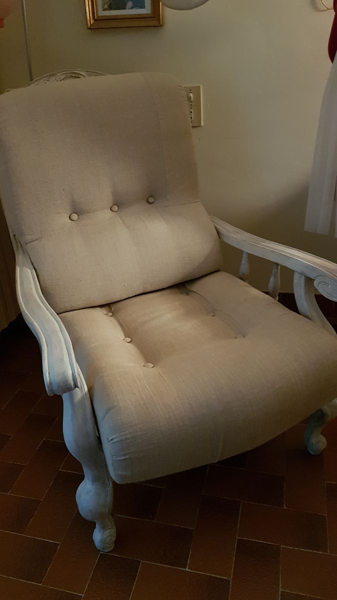 Fauteuil Shabby Chic Fauteuil En Noyer Shabby Chic