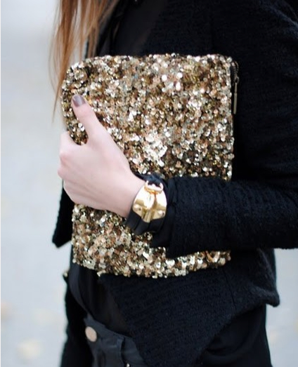 golden sequins