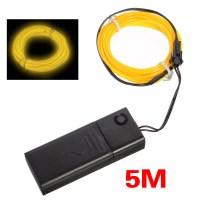 5X(5M Jaune flash Flexible Neon Lampe Tube Cables d'acier ...