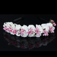 Flower Garland Flowers Bride Wedding Headband Hair Band BT