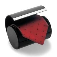 Black Necktie Neck Tie Storage Case Travel Gift Box ...