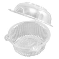50 x Single Plastic Clear Cupcake Holder / Cake Container ...