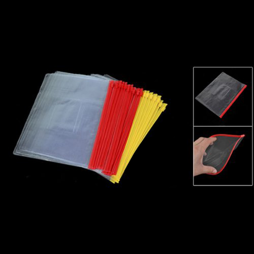20pcs Plastic Slider Zip Lock Bags Files Holder For A5