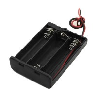 2pcs Two Wires Switch 3x1.5V AA Battery Holder Case w