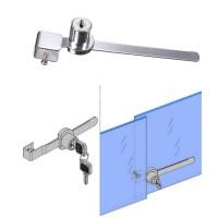 2 Keys +Keyed Alike Display Case Showcase Lock Sliding ...