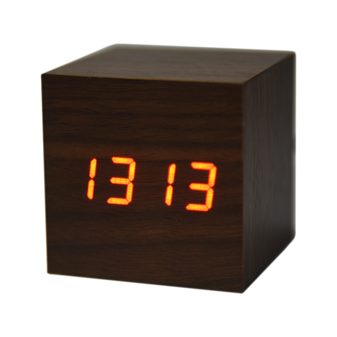 Small Led Alarm Clock 2 X Aaa Usb Powered Mini Wooden Clock Led Digital Desktop