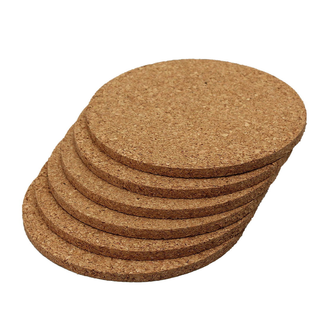 Cup Mat 6pcs Plain Round Cork Coasters Coffee Drink Tea Cup Mat