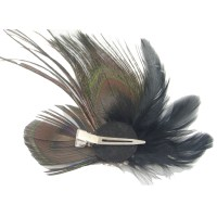 peacock feather hair accessories cute peacock feather ...