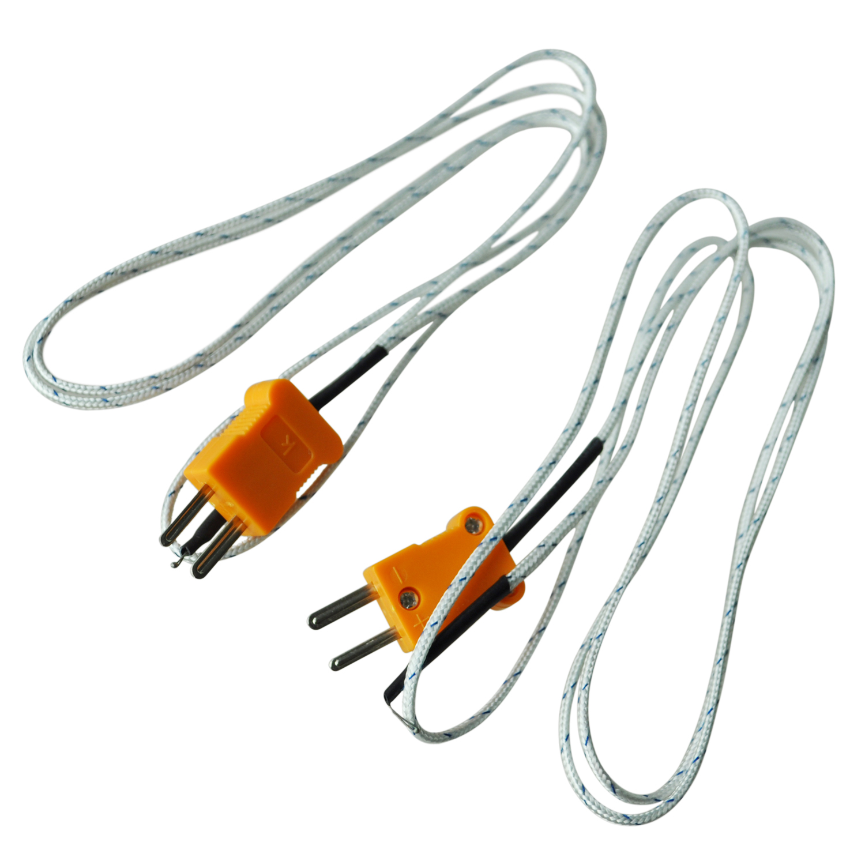 2 Pcs K Type 800c Wire Lead Measuring Thermocouple Sensor