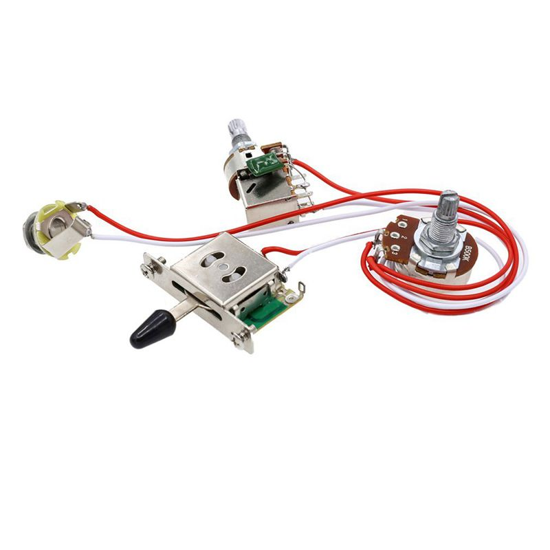 Electric Guitar Wiring Kit 1 Volume 1 Tone 3 Toggle Switch 500K Pots