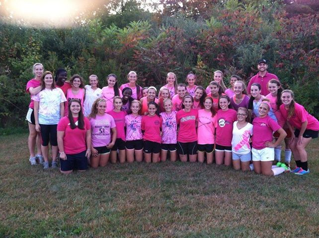 LHS Girls' Soccer for Pink Revolution