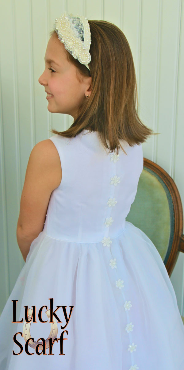 Back of Communion Dress