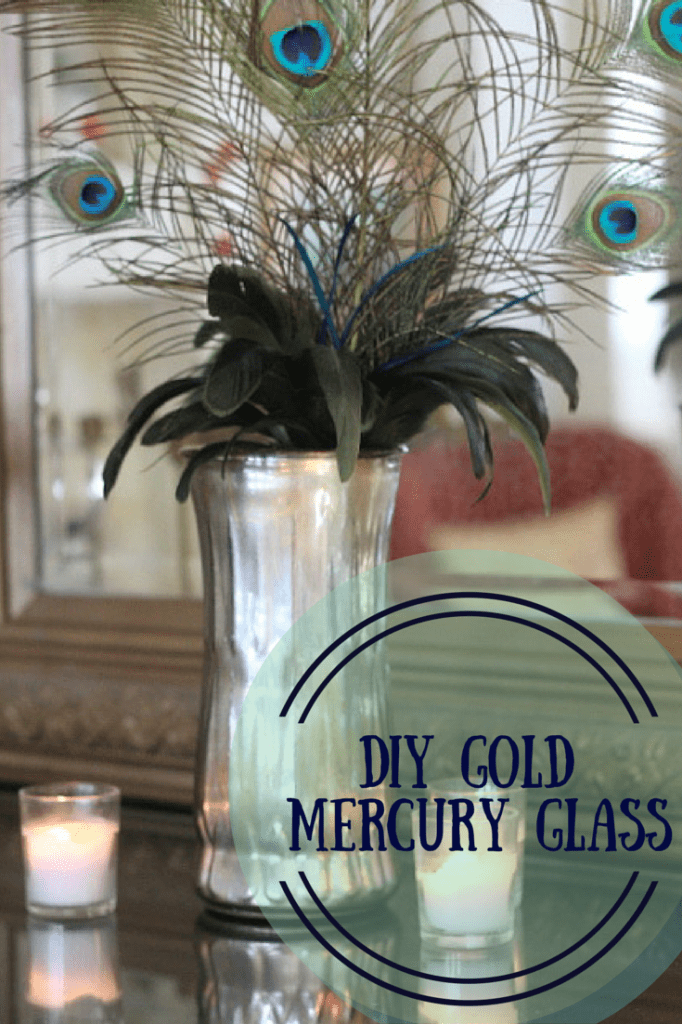 DIY Gold Mercury Glass by LuckyScarf #DIY #mercuryglass
