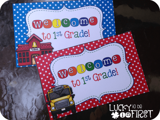 If you have time, sending a welcome letter to your students BEFORE the first day of school can help students get excited to kick off the school year.