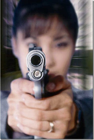 Woman Pointing Gun 02
