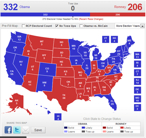 RealClearPolitics - 2012 Election Maps - No Toss-Ups