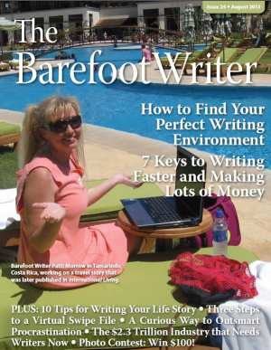 Cover: The Barefoot Writer, August 2013