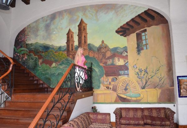 Some of the rooms are in the hacienda style of the historic lobby.
