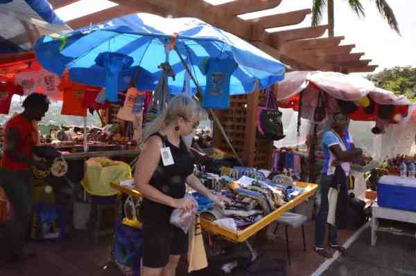 Bargaining in the market in St. Lucia. ©Doug Stead Photography