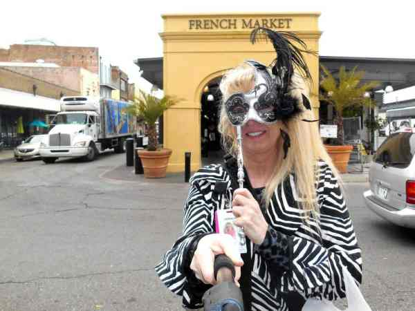 Couldn't resist buying a Mardi Gras mask at the end of the French Market!