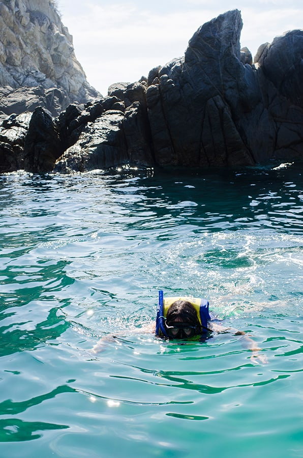 Snorkeling around Zipolite Beach.  Photo by Cantimplora Travel