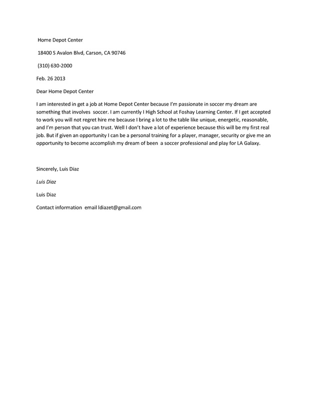 Cover Letter - Portfolio