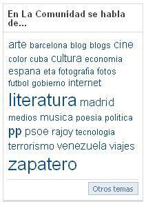 Top Etiquetas La Comunidad El País