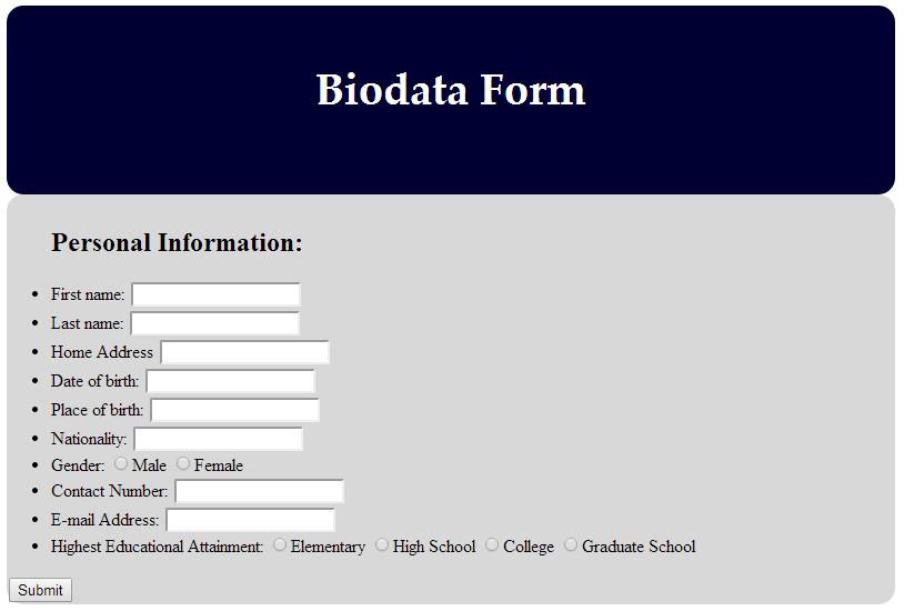 Biodata Dan Sejarah Ringkas Nabi Muhammad Saw Ics7 – Biodata Form In Html – Luissayyy