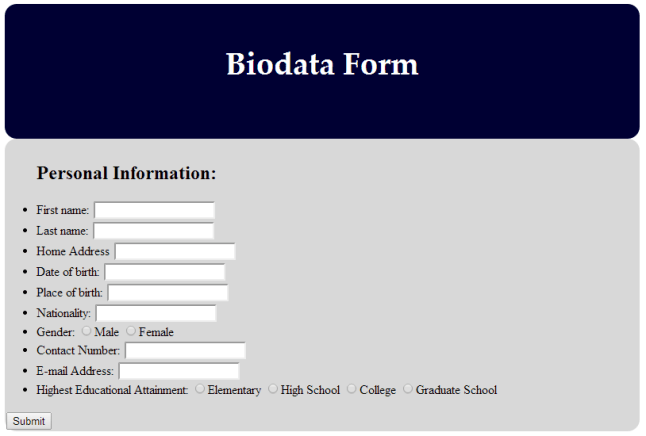 9 Sample Biodata Format For Marriage With Bonus Writing Tips Ics7 – Biodata Form In Html – Luissayyy