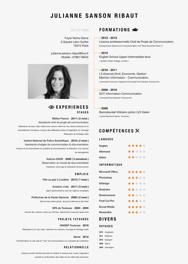 english designer cv