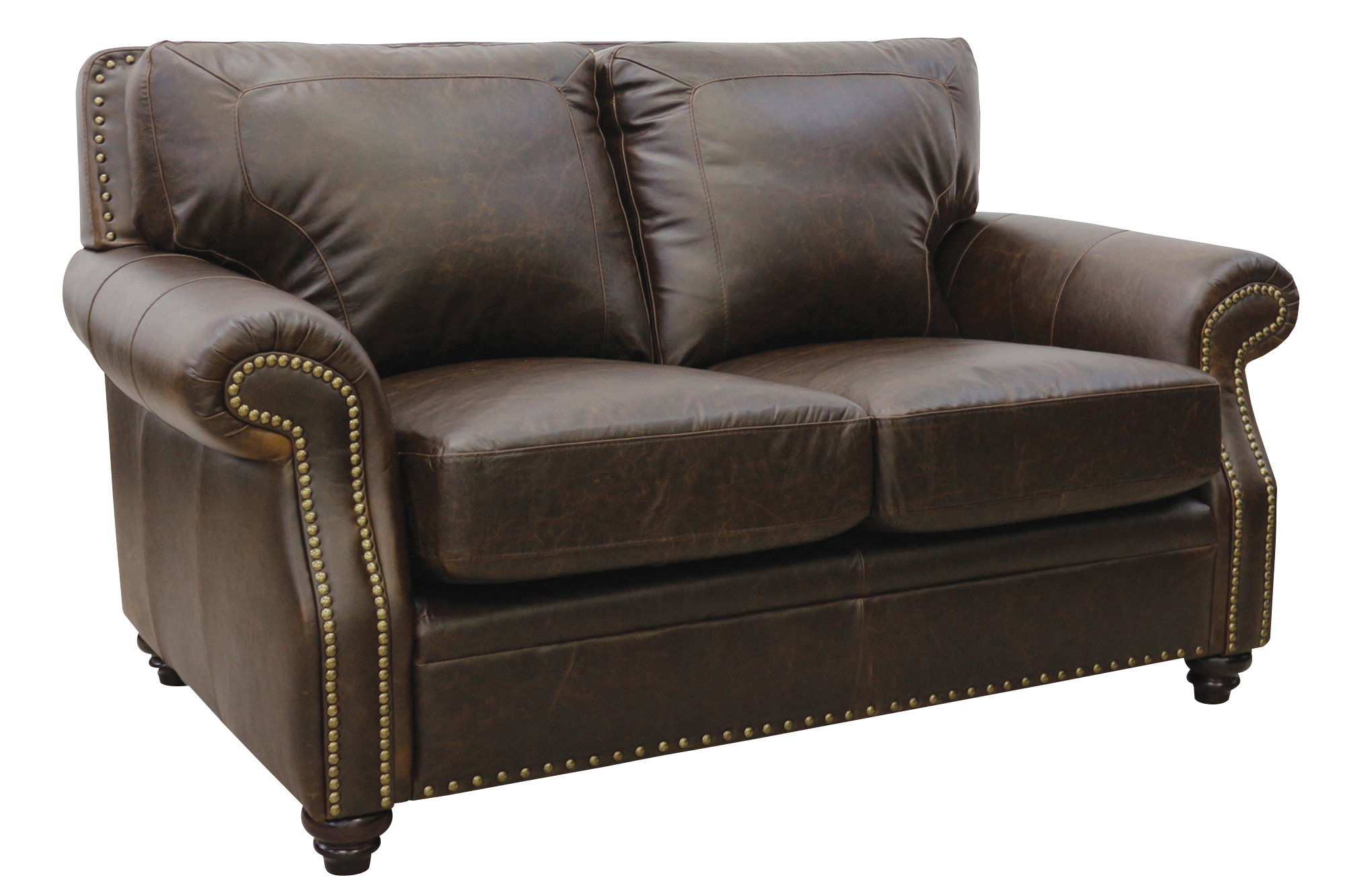 Leather Loveseat New Luke Leather Furniture Italian Made Quotmason Quot Chocolate