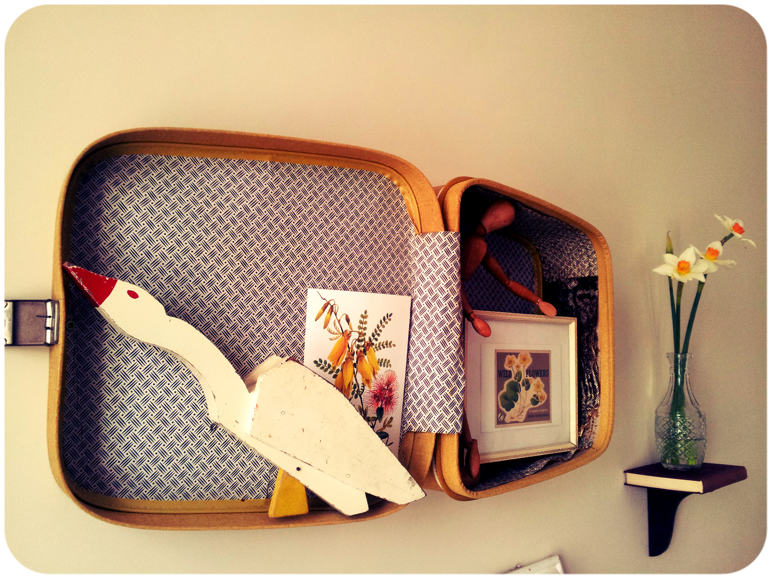 Vintage Suitcase Shelves For Sale It 39s A Vintage Suitcase Er Stuck On The Wall Y 39know