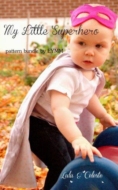 Superhero pattern bundle by EYMM sewn by Lulu & Celeste