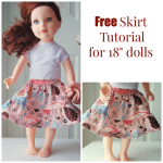 Doll Skirt Tutorial on FleeceFun.com