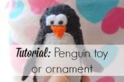 Penguin Ornament tutorial