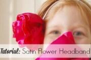 Tutorial to create satin flowers