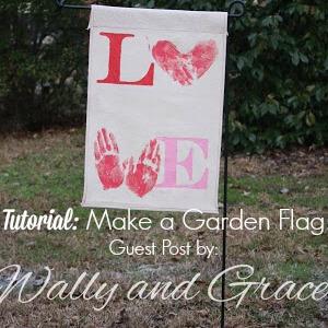 Flag in garden feature